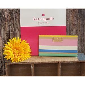 🌻NWT Kate Spade Grove Street Stacy in Dune Stripe